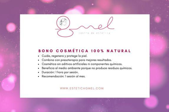 Oferta cosmética natural en Pamplona estética GMEL