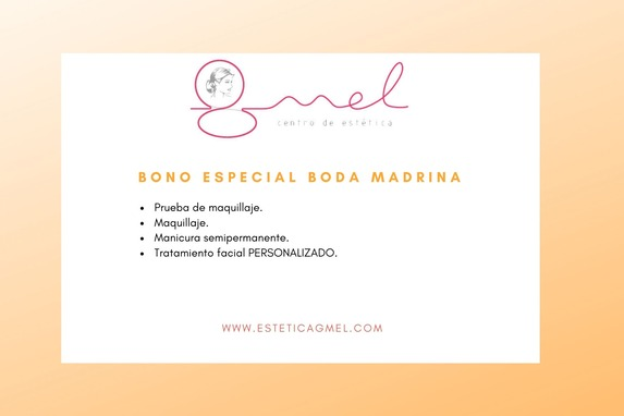Bono especial boda madrina en Pamplona estética GMEL