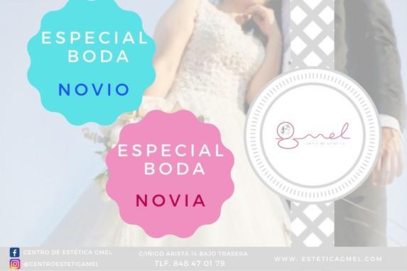 Bono especial boda novio y novia en Pamplona estética GMEL