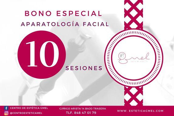 Bono aparatología facial en Pamplona estética GMEL