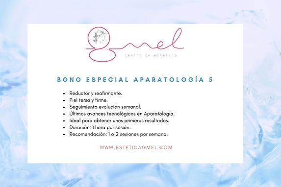 Bono especial aparatología 5 en Pamplona estética GMEL